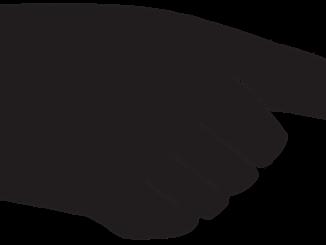 Die Hand von Friedrich Howanietz zeigt auf Datenschutz