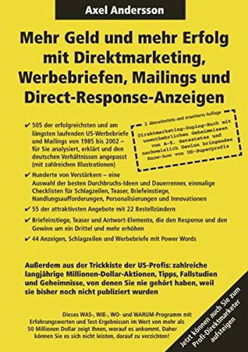 Axel Andersson online marketing offensive Friedrich Howanietz Direktmarketing